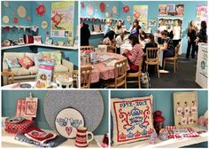 @StitchCraftShow - at Olympia ll in London. Lots of #crossstitch inspiration on the @XStitchmagazine stand!