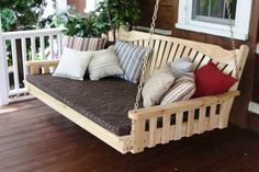 31 creative ideas for swing for adults - New Decoration ideas , Wooden Swing Bench, Wooden Swings, Diy Bench, Balcony Swing, Porch Swing, Diy Swing, Backyard For Kids, Outdoor Furniture, Outdoor Decor