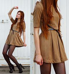 Zara Dress, Asos Belt, Asos Leather Heels