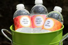 Make Your Own Personalized Water Bottle Labels  - Free Editable Labels on Piggy Bank Parties #chillingrillin
