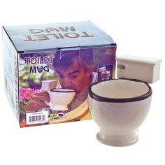 Toilet Bowl Gag Gift Ceramic Coffee Mug - Retro Planet