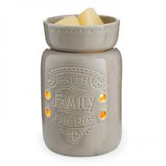 Midsize Ceramic Illumination Tart Warmer - Faith Family Friends - Single