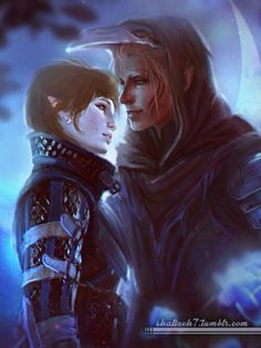 Warden and Zevran http://fuckyeaharainai.tumblr.com/archive