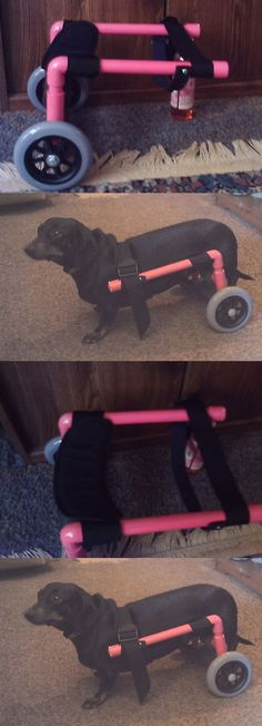 Other Dog Health Care 134753: Dog Wheelchair For Rear - Pink - Small -New, Dog Cart Fits Daschund BUY IT NOW ONLY: $85.0