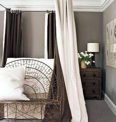 Restful Gray and White Bedroom < 50 Favorite Bedrooms - MyHomeIdeas.com