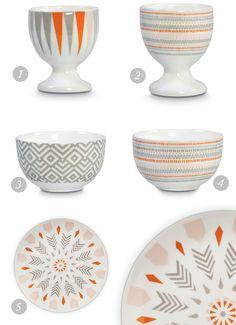 Bring stencils to create a pattern: Norweigan folk patterns