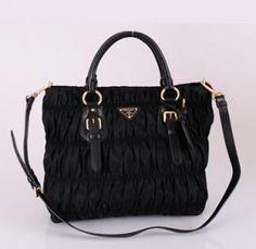 5231b40cc323 Cheap Prada Black Nylon Handbag Bn1618 Tessuto Gauffre  Prada  Handbags   Black  361
