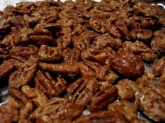 sugar free candied pecans - just got these out of the oven and they are truely GREAT.  Will be making these for my diabetic mother for Christmas.