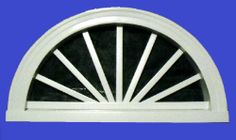 Half Round Sunburst Gable Vent found at onyxxteriors.com