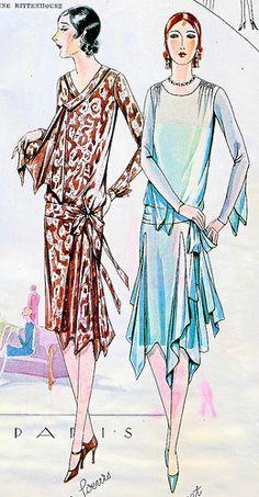 April 1928 Fashion by christine592, via Flickr