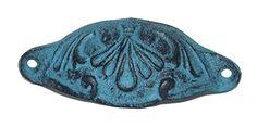 Retro/Vintage Cast Iron Patina Bin Cup Drawer Pulls (turq... https://www.amazon.com/dp/B01N7T8GYD/ref=cm_sw_r_pi_dp_x_jz4LybPN9B3GT