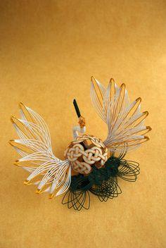 Japanese Mizuhiki decoration in the form of a crane.