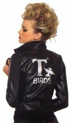 Leg Avenue Grease Bad Sandy Small T Birds Jacket Sexy Halloween Costume Cosplay