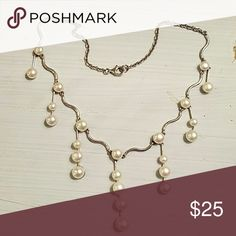 Silver and freshwater pearl drop necklace Silver and freshwater pearl drop necklace Jewelry Necklaces