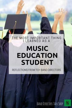 Are you a college music education major and planni…Edit description major The Most Important Thing I Learned as a Music Education Major (from band directors) - Band Directors Talk Shop Music Sub Plans, Music Lesson Plans, Music Lessons, Teaching Music, Student Teaching, Teaching Ideas, Education Major, Physical Education, Music Education Quotes