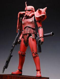 GUNDAM GUY: Gundam x Star Wars: 1/12 Scale Char Aznable Stormtrooper - Custom Build