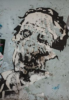 street art with torn flyers | Recent Photos The Commons Getty Collection Galleries World Map App ...