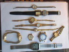 Unrensammlung an Bastler aus Nachlass Uhren vergoldet Lot KONVOLUT ..LOOK!!!!!!!