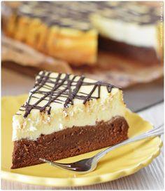 Ein wunderbar schokoladiger Brownie und darauf ein cremiger Cheesecake - das ist der perfekte Cheesecake mit Brownieboden.