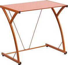 Contemporary Tempered Pink Glass Computer Desk with Matching Frame---Bring style and organization to your work or study environment with this glass desk. This contemporary style desk features a colorful tempered glass surface that matches the frame. Home Office Furniture, Fine Furniture, Contemporary Furniture, Contemporary Design, Glass Office, Glass Desk, Ergonomic Chair, Red Glass, Furniture Collection