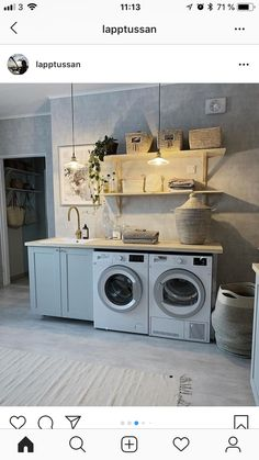 Laundry Room Design, Küchen Design, Stacked Washer Dryer, Humble Abode, Cellar, Mudroom, Decoration, Home Appliances, Bathroom