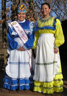 colorful dresses worn by Choctaw women