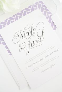Garden Script wedding invitation suite from Shine Wedding Invitations