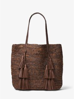 Santorini+Raffia+Tote+Bag,+Medium+Beige+by+Michael+Kors+Collection+at+Bergdorf+Goodman. Sac Michael Kors, Cheap Michael Kors, Crochet Tote, Crochet Handbags, Lv Handbags, Tote Pattern, Bag Patterns To Sew, Sewing Patterns, Crochet Patterns