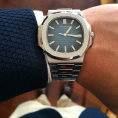 The great @dailywatch wearing the awesome Patek 5711 what do you think? #GentleManual #Denmark