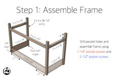 Free and easy DIY plans for how to build a flip top vanity with a hinged top. This great looking DIY vanity is functional and easily conceals all the mess. Diy Makeup Vanity Plans, Diy Makeup Vanity Table, Vanity Ideas, Woodworking Projects Diy, Wood Projects, Pocket Screws, Pocket Hole, Bars For Home, Planer