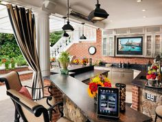 A http://splashtablet.com Repin: Outdoor Luxury Kitchen Designs A Great Way enjoy your iPad in the kitchen with favorite recipes - Super suction-mount & waterproof! Under $44 at spashtablet.com or Amazon.com 5-Stars