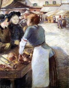 Camille Pissarro - The Market Stall  1884
