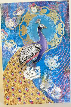 Punch Studio TURQOUISE PEACOCK NOTE CARDS. BEAUTIFUL! Package of 12. GORGEOUS!
