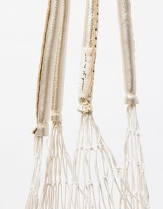 The Net Bag in White/Gold