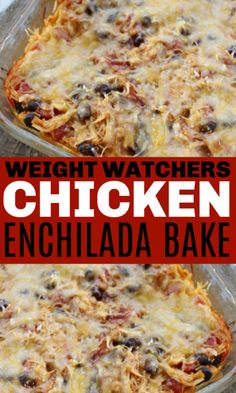 This Weight Watchers Chicken Enchilada Bake is a delicious and low point dinner recipe that the whole family will enjoy This is very tasty and full of hearty ingredients ww weightwatchers chicken casserole enchilada Weight Watchers Enchiladas, Poulet Weight Watchers, Plats Weight Watchers, Weight Watchers Chicken, Weight Watchers Quiche Recipe, Weight Watchers Casserole, Low Calorie Dinners, No Calorie Foods, Low Calorie Recipes