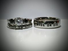 Ride or Die Bonnie and Clyde 6mm Center White by LawrenceCustoms