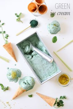GREEN ICE CREAM! – Kale and Caramel