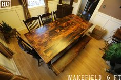 Our Rustic Harvest Tables 8