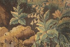 Aubusson Tapestry fragment piece 18th century textile French hand -woven 1750 www.textiletrunk.com