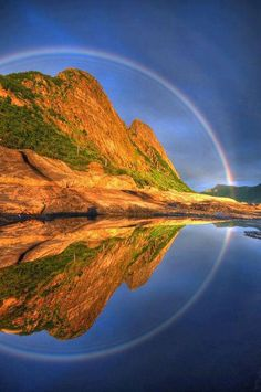 Pic: Reflected rainbow, Norway. Credit to Dreamer