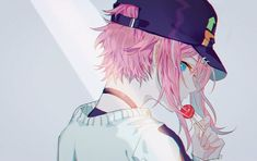 Anime Oc, Chica Anime Manga, Manga Girl, Cool Anime Guys, Cute Anime Boy, Anime Art Girl, Guys With Pink Hair, Battle Rap, Pink Hair Anime