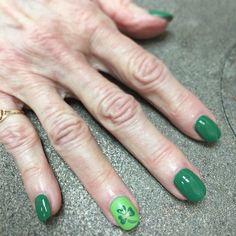 St Patrick's Day nail art OPI