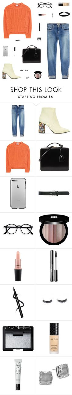 """""""Walking My Way"""" by belenloperfido ❤ liked on Polyvore featuring Frame, Bams, Acne Studios, Mark Cross, M&Co, Edward Bess, MAC Cosmetics, NARS Cosmetics, Gucci and Kate Spade"""