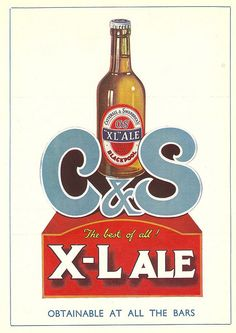 Caterall & Swarbrick's C X-L Ale advert, Blackpool, c1938