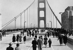 Golden Gate Bridge, opening day 5/27/1937