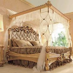 Gold bedroom...