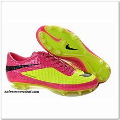 Nike Welbeck Hypervenoms Phantom 2014 FG Pink Yellow $61.00