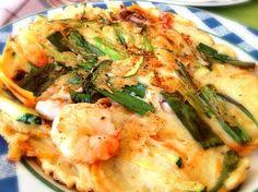 レシピとお料理がひらめくSnapDish - 18件のもぐもぐ - 해물파전, Seafood Welsh [Green]-Onion Pancake; PAJEON, 海のものお好み焼き by 孤独のグルメ - まつしげ ゆたか