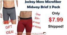 WOOHOO! What a deal! Perfect gift idea for a special guy in your life! Get Jockey Mens Microfiber Midway Brief 2 Pack for only $7.99 SHIPPED! (compare to $24 or more at most dept stores!)  Click the link below to get all of the details ► http://www.thecouponingcouple.com/jockey-mens-microfiber-midway-brief-2-pack/ #Coupons #Couponing #CouponCommunity  Visit us at http://www.thecouponingcouple.com for more great posts!
