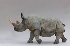 Galerie 713 | Art contemporain - Mixed Media Sculpture, Sculpture Art, Sculptures, Rhino Art, 7 Arts, Flamingo Painting, Prehistoric Creatures, Ceramic Animals, Rhinoceros